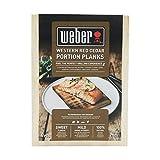 Weber 17832 Räucherbretter aus Zedernholz 11x15 cm, 4 Stück, Räuchern, Aroma, Grillen