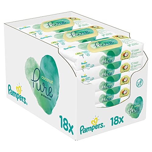 Pampers Coconut Pure Baby Feuchttücher,...