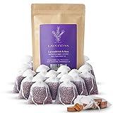 Lavendas 10 x Lavendelsäckchen & Zedernholz Set | Duft für Kleiderschrank | zum Einschlafen | zur Entspannung | Natürlicher Mottenschutz gegen Kleidermotten | Duftsäckchen 120g Franz. Lavendelblüten