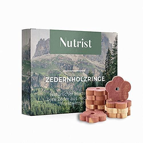 nutrist 30x Premium Zedernholz Ringe...